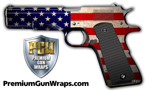 Buy Gun Wrap Flag American Grunge
