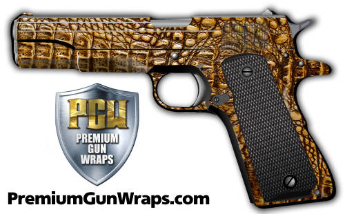 Buy Gun Wrap Alligator Tan
