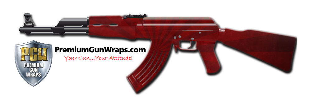 Buy Gun Wrap Grunge Red Burst Gun Wrap