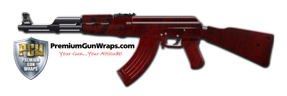 Buy Gun Wrap Grunge Red Gun Wrap